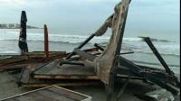 """FURTUNĂ în CONSTANŢA: Plajele au fost distruse. """"Aşa ceva nu am mai văzut"""" VIDEO"""