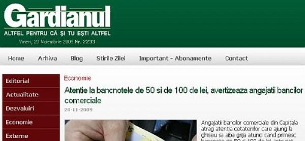 Gardianul confirmă ştirea PHonline.ro privind banii falşi din piaţă