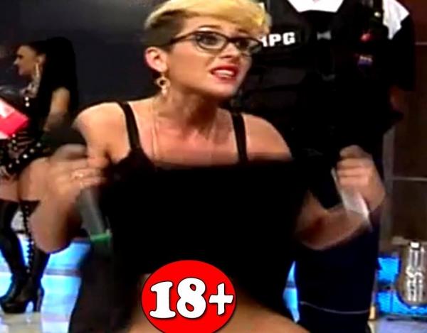 FARA RUSINE! Dana Roba, ex-amanta lui Nicolae Guta, a venit fara chiloti la TV! Si-a ridicat fusta si s-a vazut TOT