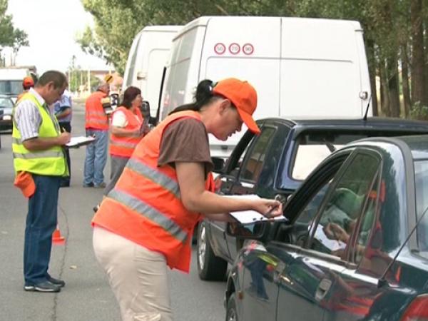 Control al poliţiei rutiere, împreună cu RAR, pe DN1