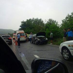 Accident pe DN 1, la Banesti! FOTO
