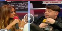 "VIDEO Andrei Duban a venit beat in platou la WOWbiz! Bianca Dragusanu a plecat din emisiune cand a vazut ca actorul o ataca! - ""Esti...."