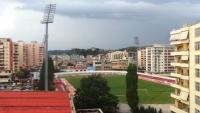 Arena Flamurtari văzută de la etajul IV