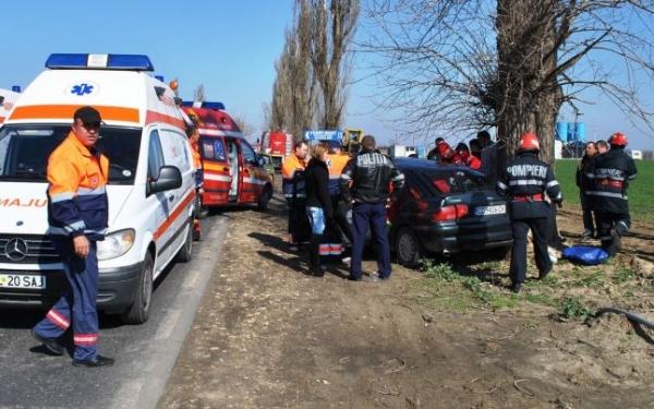 Accident pe DN1 A, la Corlatesti. O persoana a fost ranita