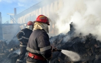 Incendiu la fabrica de mobila Relaxa Mizil
