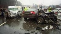 Accident grav in Sinaia, soldat cu doua victime. Traficul este restrictionat
