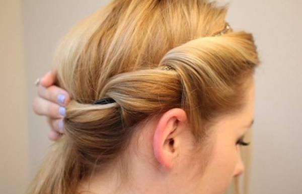 Coafura de zi pentru păr lung şi mediu, gata în 10 minute. TUTURIAL VIDEO