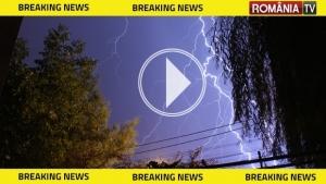 ALERTĂ METEO: Ploi torenţiale, grindină şi vijelii în toată ţara