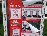 """Ce inseamna, de fapt, sloganul """"USL traieste!"""", de pe afisele electorale"""