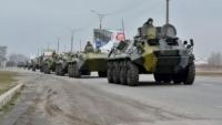 Armata ucraineană a ATACAT convoiul cu blindate al Rusiei