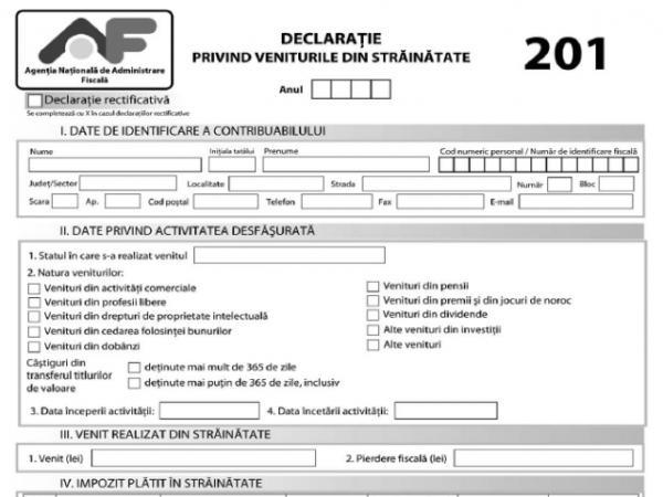 In atentia contribuabilior persoane fizice: Se apropie termenul pentru depunerea Declaratiei 201