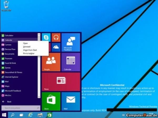 Cum va arăta noul Windows 9. Primele imagini