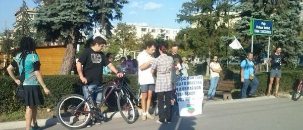 Protest, in Ploiesti, impotriva exploatarii de la Rosia Montana