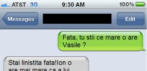 Fata, Vasile o are mare...