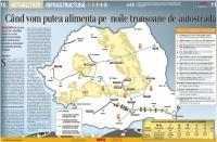 AUTOSTRĂZILE din România cu şi fără BENZINĂRII. Vezi HARTA