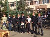 """VIDEO/ Mircea Cosma si ministrul Cazanciuc, prezenti la ceremonia de deschidere a noului an scolar, la Liceul """"1 Mai"""""""