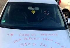 """Mesaj fabulos lăsat de Irina, o tânără din Neamț, cu rujul pe capota iubitului ei:  """"Te iubesk nebunule. Mi-a plăcut când am făcut secs în ..."""" Continuarea e BOMBA!"""