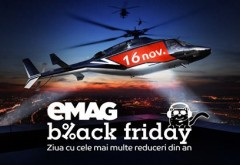 A inceput nebunia BLACK FRIDAY la eMAG! Telefoane la 1 leu, anvelope de iarna la 99 lei, televizoare cu 90% reducere!