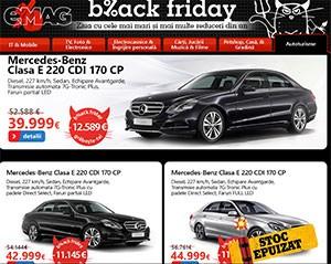 Maşini de Black Friday la eMAG - reduceri de până la 12.600 euro! Se vand in cateva secunde!