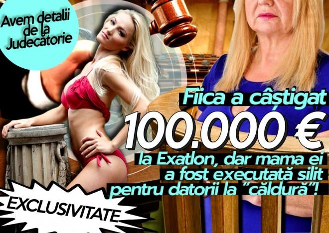 Fiica a castigat 100.000 euro la Exatlon, dar mama ei a fost executata silit pentru datorii la caldura