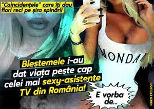 Blestemele i-au dat viata peste cap cele mai sexy asistente TV din Romania! E vorba de ...