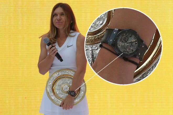 Simona Halep își respectă, clar, eticheta de super-campioană. Poarta un ceas de ...60.000$