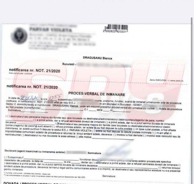 Document bombă despre divorțul Biancăi Drăgușanu de Bodi. A fost trimis cu executor judecătoresc