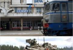 Se pregateste ceva? Mai multe tancuri militare si masini de razboi au tranzitat gara din Deva