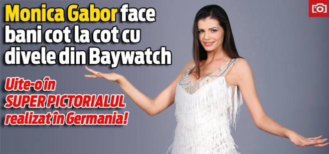 Monica Gabor face bani cot la cot cu divele din Baywatch. Uite-o în super pictorialul realizata în Germania!