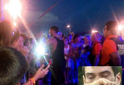 CUTREMURATOR! Dorian Popa, a cazut de pe scena in timpul concertului!  Cum arata acum! IMAGINI SOCANTE