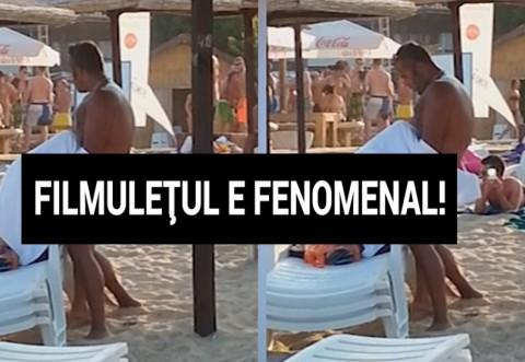 VIDEO XXX! Iubita ii facea sex oral pe plaja la Mamaia! Toata lumea se uita si a aplaudat la final! Femeia era experta!