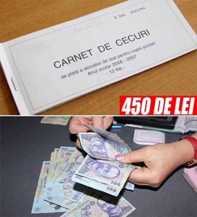 Gata! Alocații de 450 de LEI în România