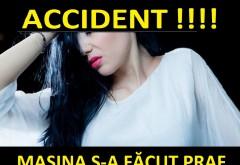 O cântăreaţă de la noi a făcut accident în drum spre concert. Maşina s-a făcut PRAF!