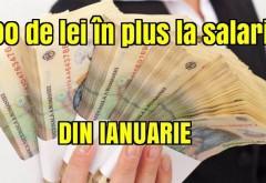 Veste excelentă pentru zeci de mii de români. Vor primi, începând cu ianuarie, câte 400 de lei la salariu
