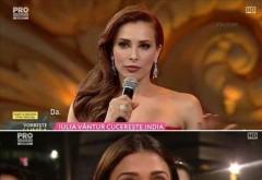 Iulia Vantur, aparitie de senzatie intr-o rochie rosie ca focul la un eveniment monden din India. Tinuta pe care putine femei ar indrazni sa o poarte