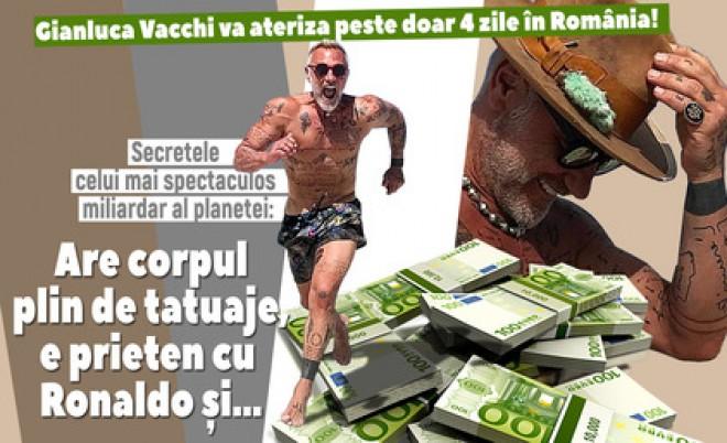 Gianluca Vacchi va ateriza peste doar 4 zile în România! Secretele celui mai spectaculos miliardar al planetei: Are corpul plin de tatuaje, e prieten cu Ronaldo şi…