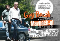 Imagini geniale cu patronul FCSB, aghiotantul Luţu şi… Gigi Becali a făcut piaţa cu Maybach-ul de 200.000 €! Râzi cu lacrimi când vezi ce a băgat la portbagaj