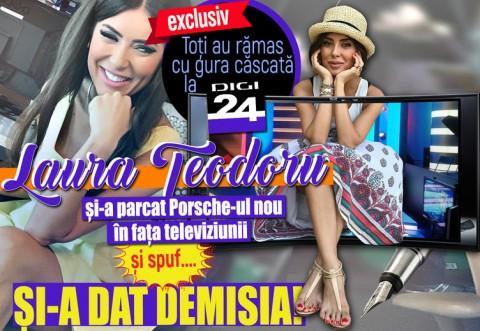 Laura Teodoru şi-a parcat Porsche-ul nou în faţa televiziunii şi spuf....şi-a dat demisia! Toţi au rămas cu gura căscată la DIGI 24