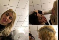 Scene de sex in toaleta unui club din Capitala! Doua tinere si-au facut de cap mai ceva ca-n filmele pentru adulti! Imaginile au scapat pe internet si te lasa gara grai