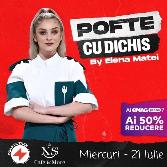 XS Cafe Ploiesti/ Azi poti comanda doua preparate speciale pregatite de Chef Elena Matei, prin Tazz by eMag