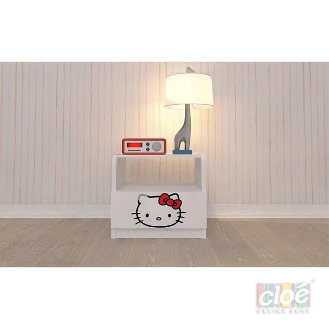 Noptiera Pentru Copii cu Un Sertar Hello Kitty