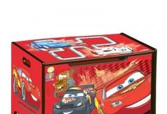 Ladita din lemn pentru depozitare jucarii Disney Cars