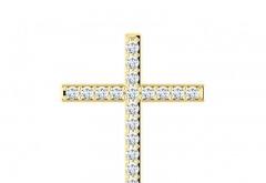 Cruciulita din Aur cu Diamante
