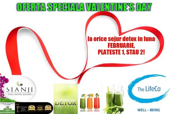 Mergeti la Detox impreuna cu persoana iubita !!! Oferta Valentine's Platesti 1 Stati 2 SIANJI & LIFE CO BODRUM