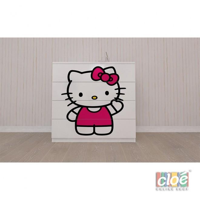 Comoda Pentru Copii cu Sertare Hello Kitty