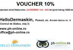 DISCOUNT 10% la injectarea buzelor sau ridurilor cu Acid Hialuronic, doar cu VOUCHERUL Ph-online.ro!