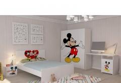 Dulap 4 Usi + Pat Doua Persoane + Noptiera + Birou Mickey Mouse