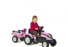 Tractor pentru copii cu remorca Princess