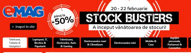 eMAG reduceri combine frigorifice, telefoane, laptopuri si electrocasnice doar azi, de Stock Busters. Preturi mici la mii de produse!