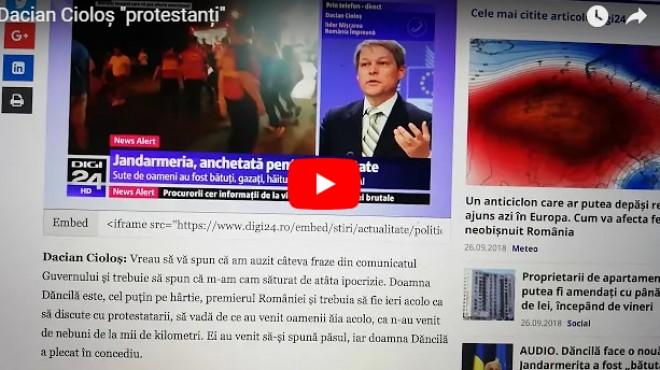 "De unde s-a ""inspirat"" Viorica Dancila. Dacian Ciolos: ""Trebuia sa fie acolo ca sa discute cu PROTESTANTII"""